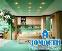 Выбор цвета для потолка в спальне