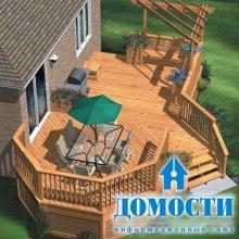 Деревянные террасы: проектирование
