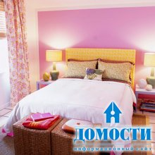 Яркий цвет для спален