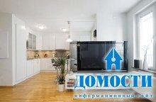 Телевизор для разделения кухни и гостиной