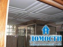 Пенополистирольный потолок в ванной