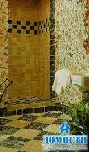 Отделка ванной уникальной плиткой