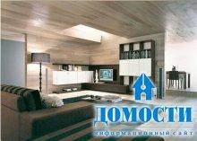 Дизайн угловой стенки для гостиной