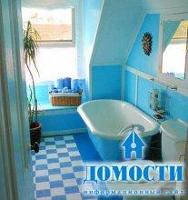Небесно-голубые и морские ванные