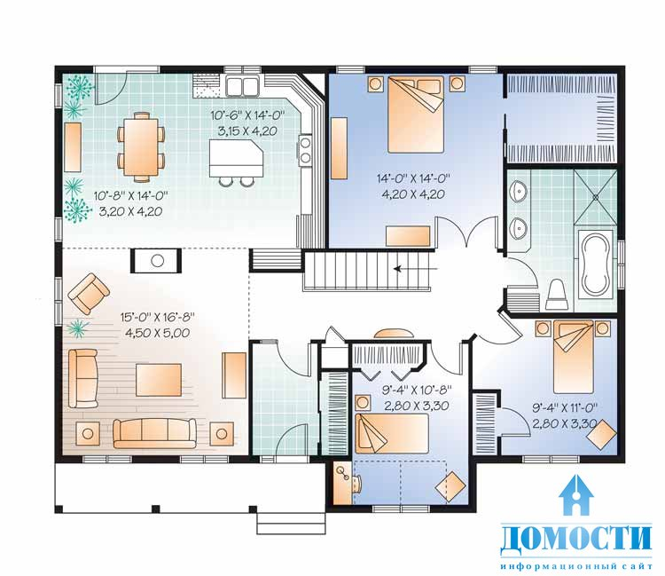 Стилей и размеров одноэтажные дома