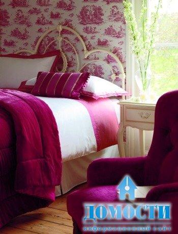 В интерьер спальни один цвет – можно