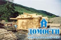 Как строятся дома из бруса