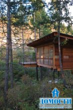 Лесной коттедж на сваях