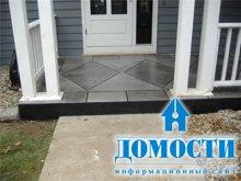 Преображение бетонного крыльца
