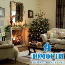 Новогодний декор гостиных