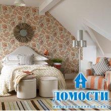 Цветочные спальные обои