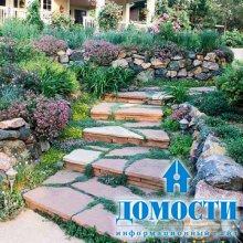 Каменное дополнение сада