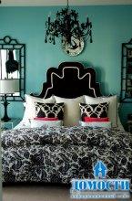 Бирюзовый дизайн комнат