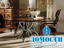Мебельная классика: кованые столы
