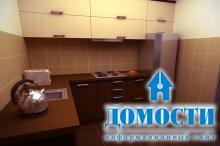 Увеличение кухни при помощи угловой мебели