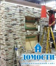 Покрытие стен панелями из искусственного камня