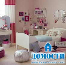 Спальни для маленьких и больших девочек