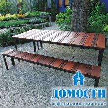 Дизайн садовых столов