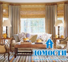 Декор дома при помощи штор
