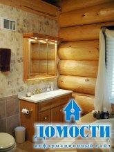Интерьер деревянной ванной