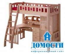 Кровати со столом для небольших комнат