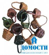 Интерьерная роль плетеных корзин