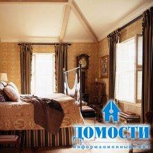 Традиционный дизайн штор для спальни