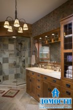 Декор ванной в деревянных домах