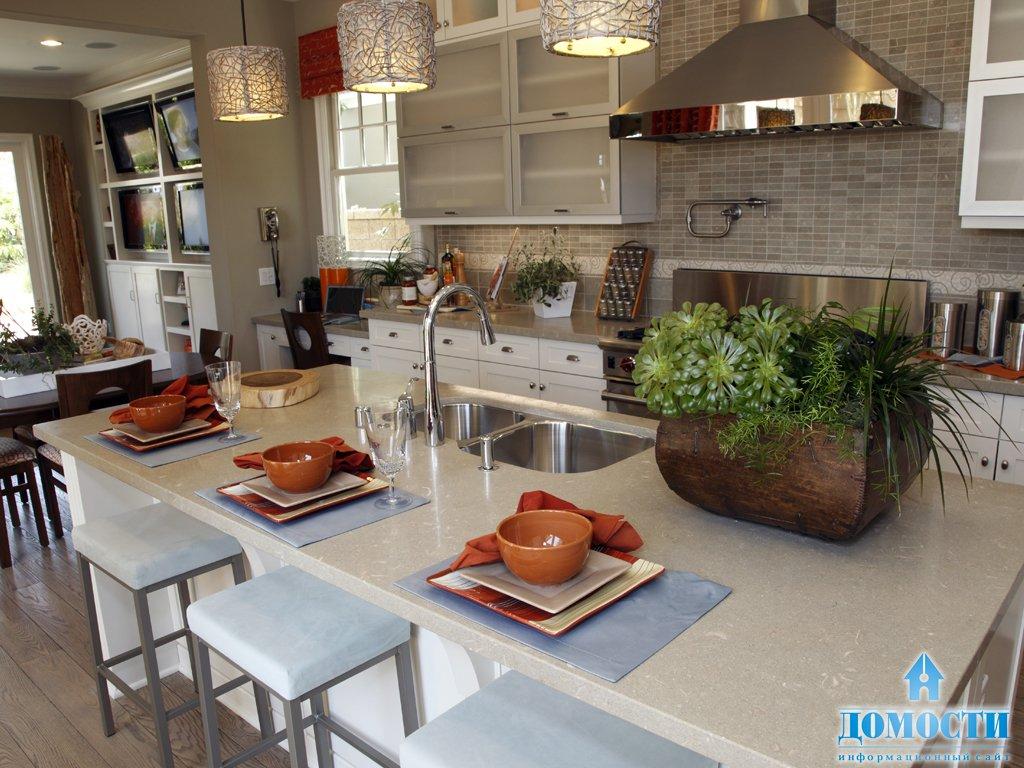 Кухни красного цвета в интерьере