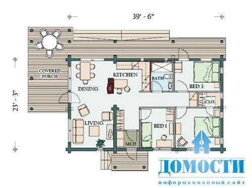 компания проект одноэтажного финского дома с лофтом первом случае создается