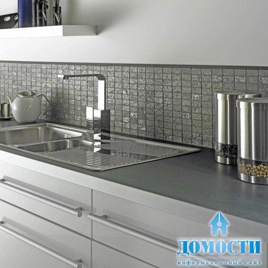 В дизайн кухни поможет модная плитка