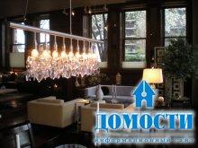 Объединяющее освещение гостиной