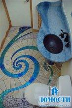 Динамическая мозаика в ванной