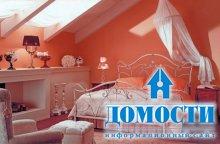 Нежные персиковые спальни