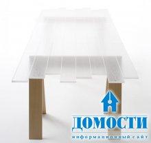 Столы из прозрачных досок