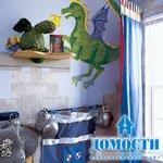 Средневековый замок в детской спальне