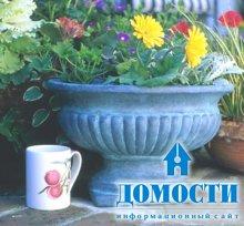 Классическая отделка цветочных горшков