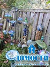 Садовые украшения из подручных материалов