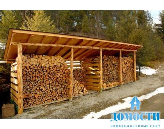 Сарайчик для дров на даче
