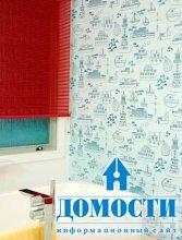 Обои на стенах в ванной