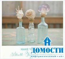 Декор для дома из стеклянных бутылок