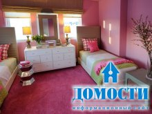 Розовая девичья спальня