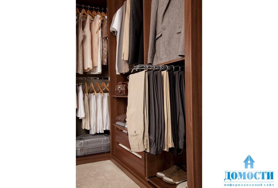 Системы хранения для гардеробных.