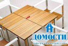 Раскладная мебель из контрастных материалов