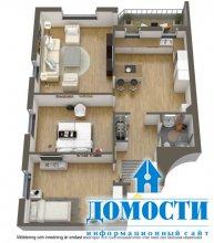 Стильная угловая квартира
