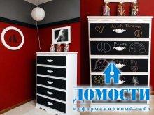 Обновление мебели грифельной краской