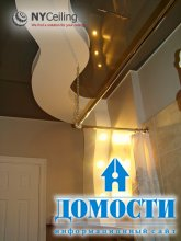 Глянцевые потолки в ванной комнате