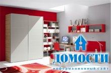 Красно-белая подростковая спальня