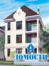 Планировка домов на три квартиры