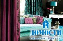 Бело-голубые гостиные комнаты